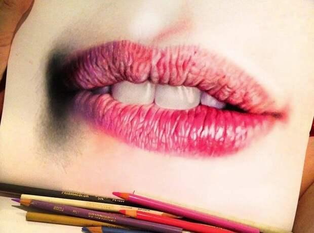 Гиперреалистические рисунки Морган Дэвидсон цветными карандашами