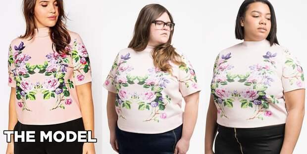 Топ с высоким воротником и цветочным принтом от ASOS Curve: Кристин - размер 14, Шеридан - размер 16 интернет, полные женщины, шопинг