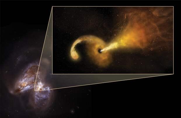 Черная дыра «пожирает» звезду