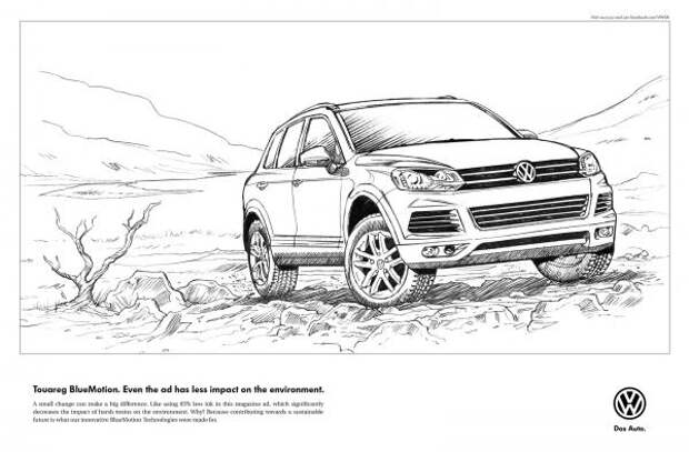 Line Drawing, Volkswagen, Ogilvy & Mather Cape Town, Volkswagen Group, Печатная реклама