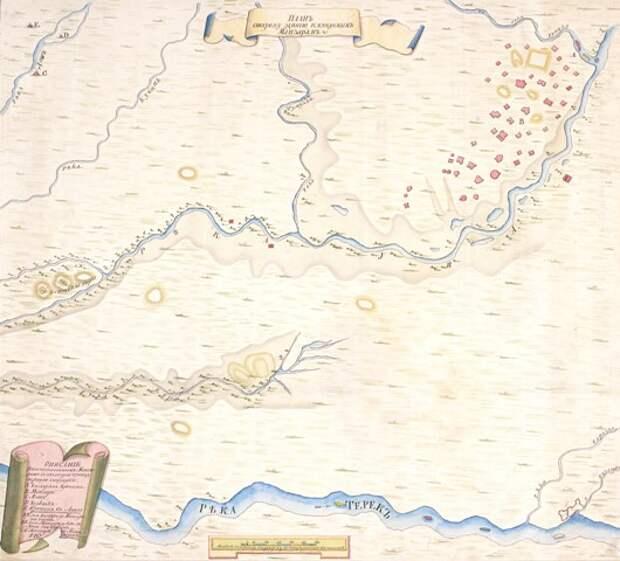 План остатков г. Маджара с ситуацией. Автор А. Голохвостов, 1742 г. (ОР БАН. Собр. карт. Оп. осн. № 868)