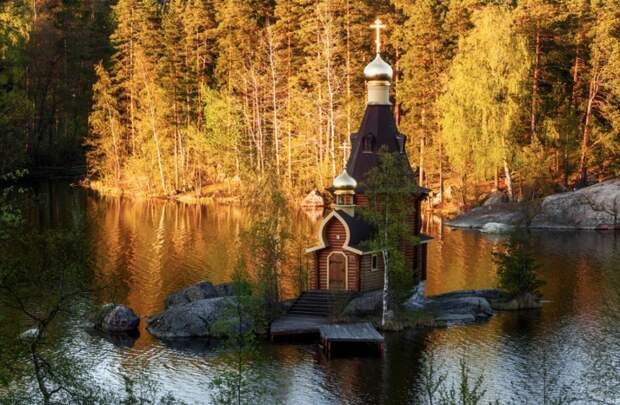 Храм Апостола Андрея Первозванного на Вуоксе земля, красота, природа, россия