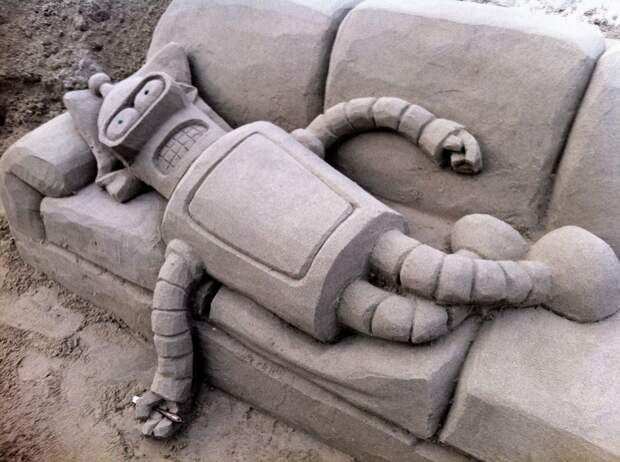 Футурама - робот из песка