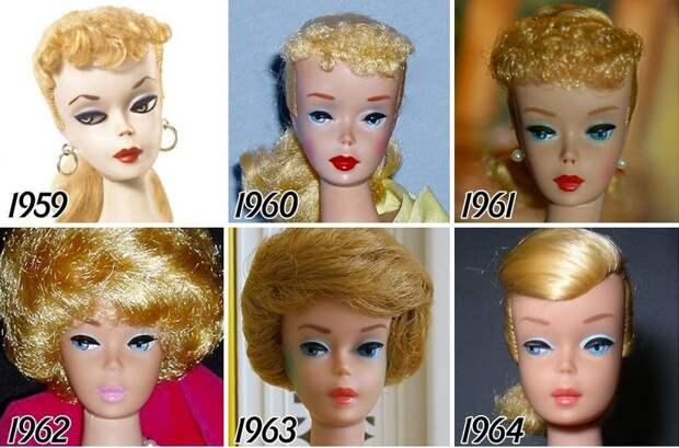 Эволюция куклы Барби с момента создания и до наших дней