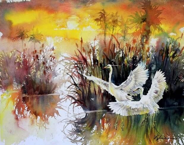 Яркий сказочный мир в акварелях Лиана Цюань Чжэня..