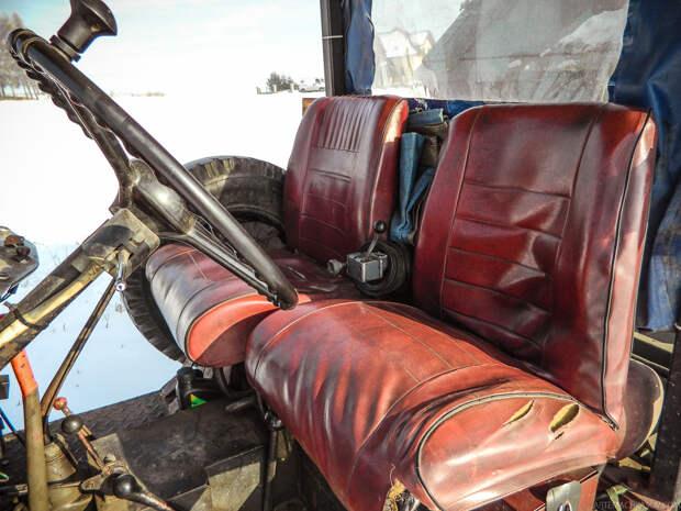 Сидения от старого авто FSO Syrena 105. самоделка, своими руками, трактор