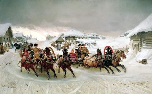 П. Грузинский. Масленица, 1889