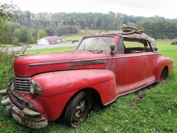 Редкий Lincoln кабриолет 1946 года с бензиновым V12 сохранился лучше многих других товарищей по несчастью авто, джанкярд, коллекция, коллекция автомобилей, олдтаймер, ретро авто, свалка автомобилей