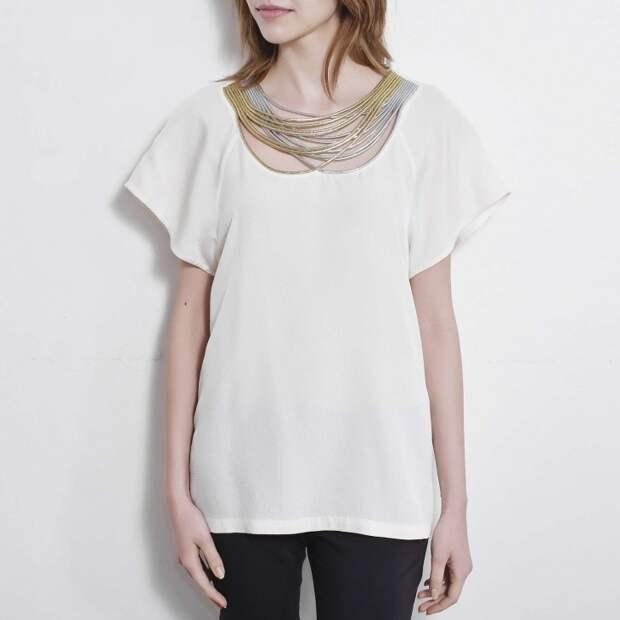 Блуза 3.1 Phillip Lim. Машинная вышивка