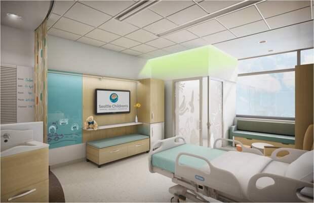 9. Палата пациента в детском центре Сиэтла. больницы, дети