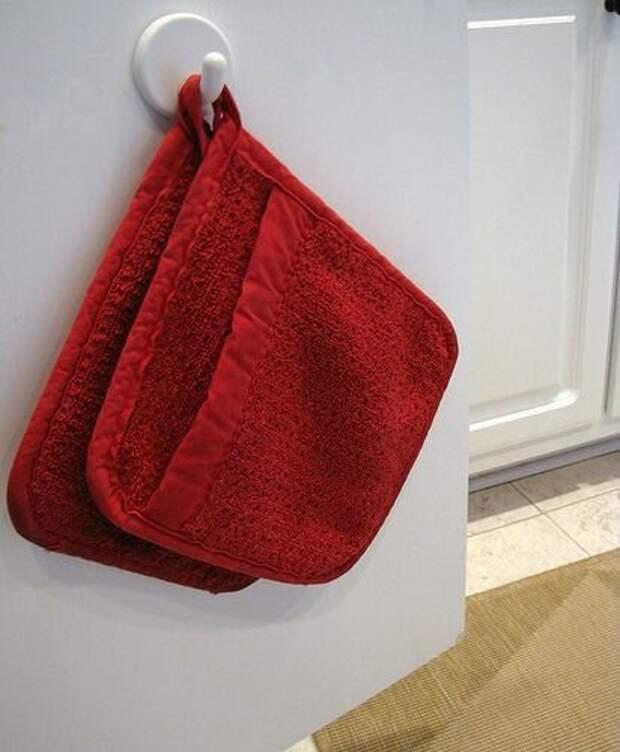 кухонные полотенца на крючках