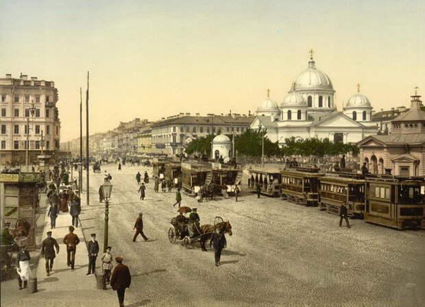 Дореволюционный Петербург в серии цветных фотографий
