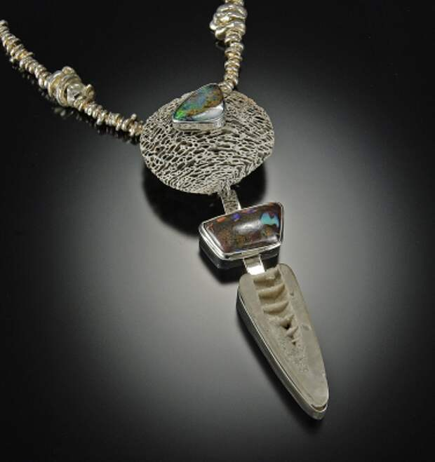 jewelry image of Fossils, Boulder Opals, Sterling Silver