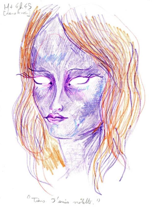 Рисунки художника, принявшего дозу ЛСД