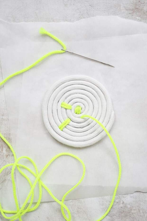 Подставки под кружки, из веревки (Diy)