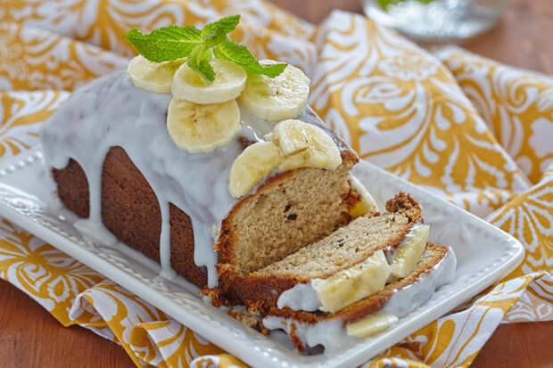 Банановый кекс с корицей