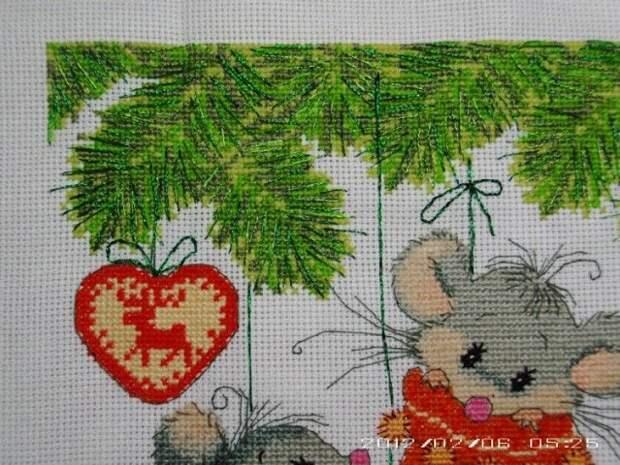 Милые мышата - схемы  вышивки.
