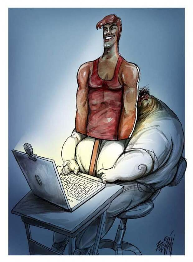 Ирония современной жизни в иллюстрациях Энджела Болигана
