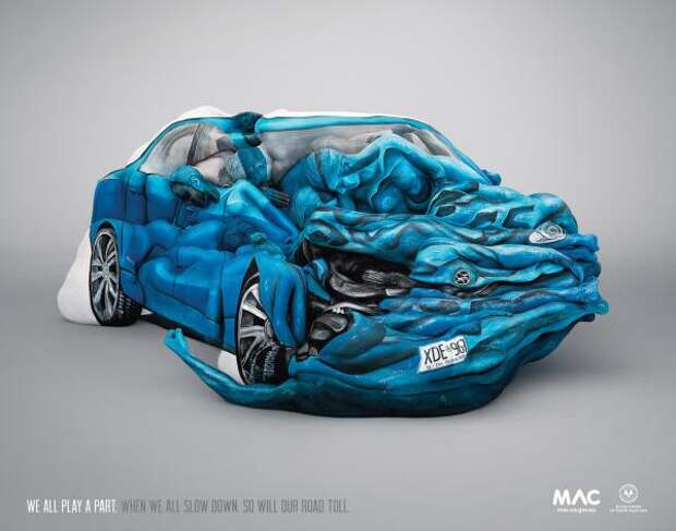 Body Crash, Motor Accident Commission, Clemenger BBDO, Motor Accident Commission, Печатная реклама