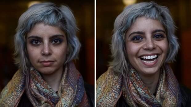 Фотограф показал, что происходит с людьми, когда им говорят, что они красивы