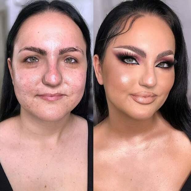 Не доверяю лицам в макияже