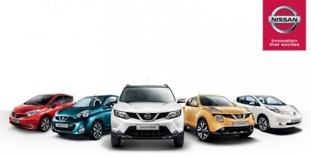 Модельный ряд Nissan
