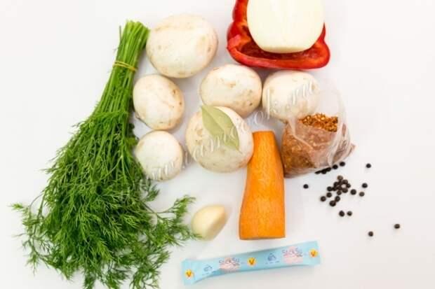 Ингредиенты для маринования грибов