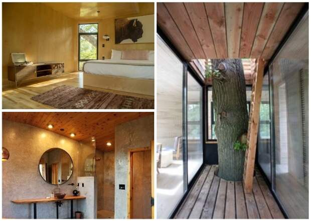 Комплекс Yoki Treehouse создан исключительно из природных материалов.