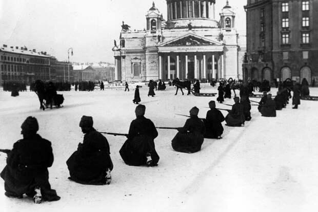 Исаакиевская площадь 1917/2017 время, история, люди, прошлое, революция, событие