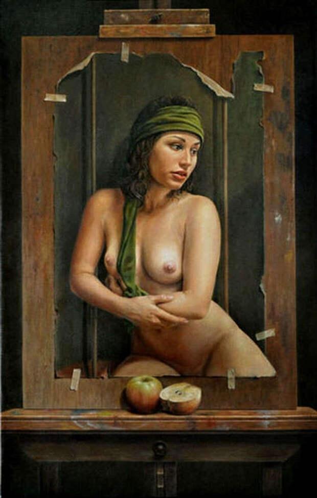 Обнаженная натура в изобразительном искусстве разных стран. Часть 149.