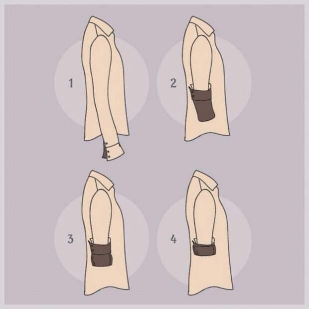 Мануал как подворачивать рукава
