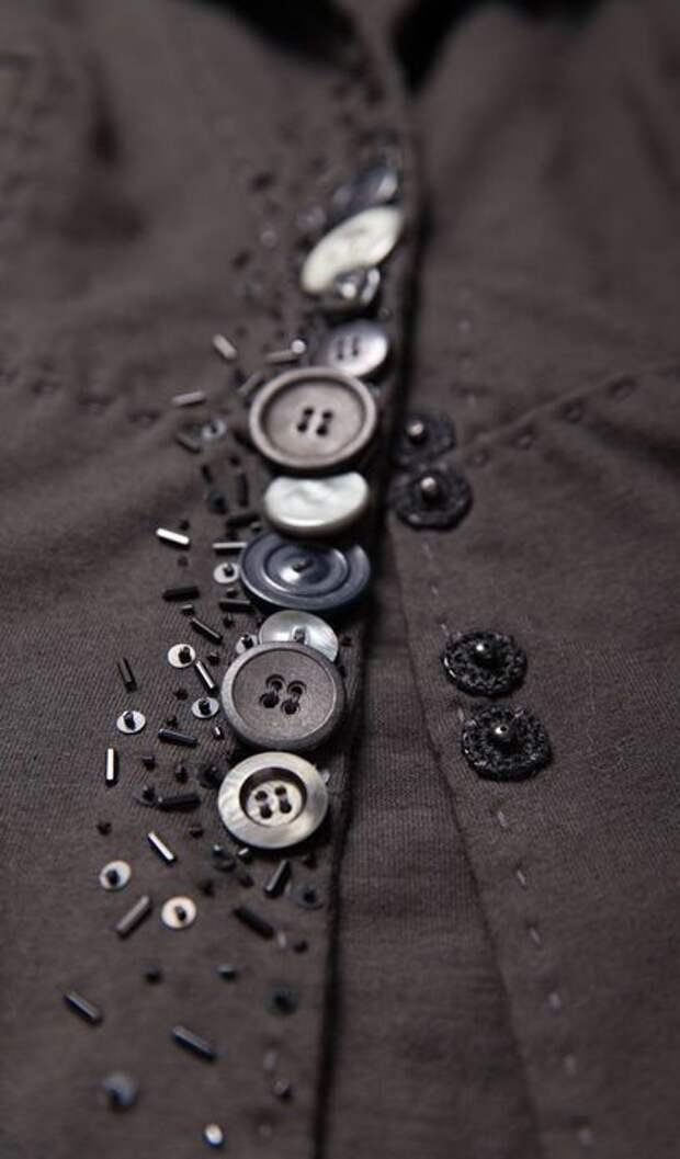 Декор застежки на кнопках