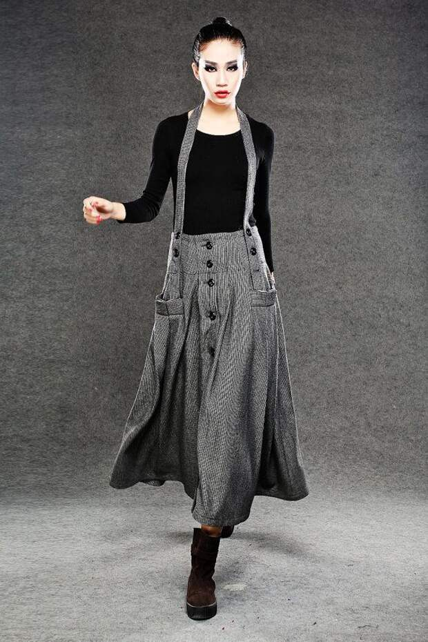 Wool skirts Long Maxi Skirt by YL1dress on Etsy, $89.00
