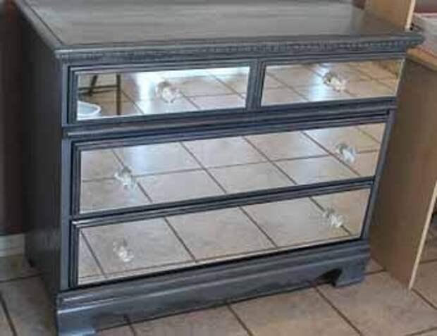 Реставрация мебели: делаем зеркальный комод