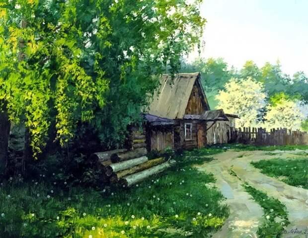 Прекрасные русские пейзажи от художника Дмитрия Лёвина красиво, пейзаж, художник