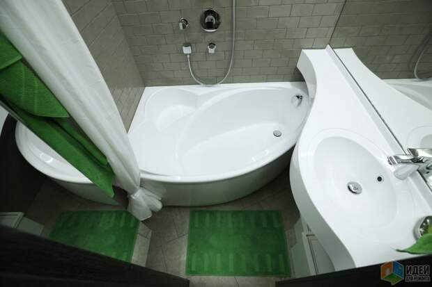 Планировка ванной, удобная маленькая ванная, раковина над ванной