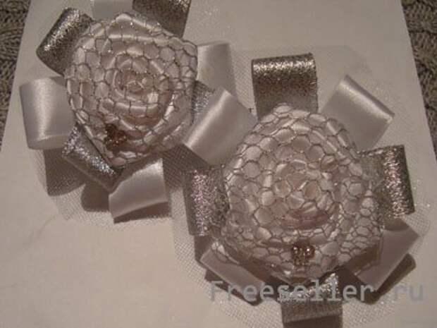 САМОДЕЛКИ. Белоснежные розы с сеткой