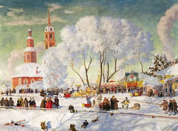 Б. Кустодиев. Масленица, 1920