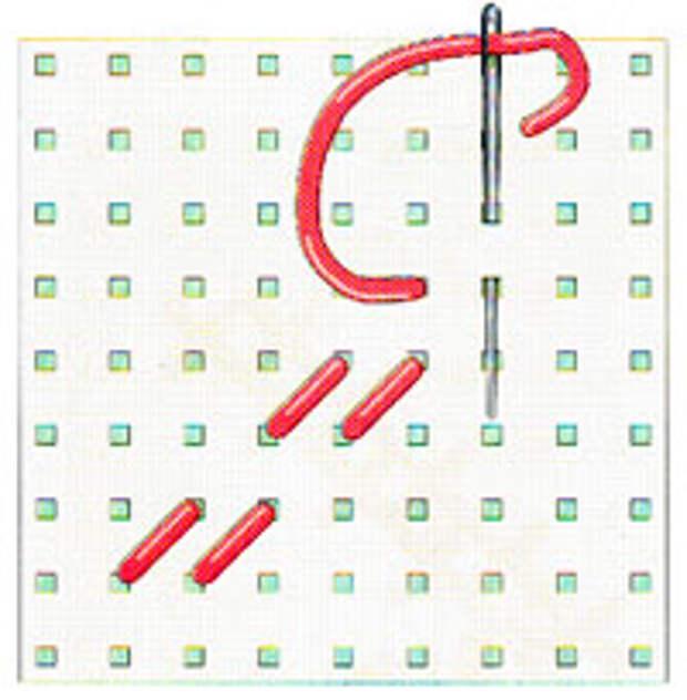 Вышивка крестиком по диагонали. Двойная диагональ слева направо (фото 5)