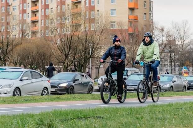 В Санкт-Петербурге на проспекте Большевиков появится велодорожка за 15 млн рублей