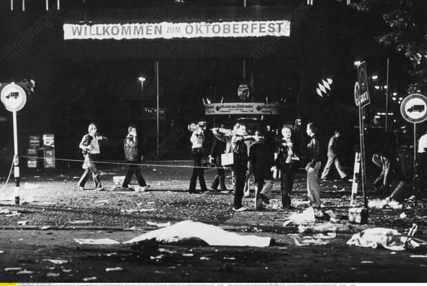 Oktoberfestattentat 1980, Tatort mit Opf - -