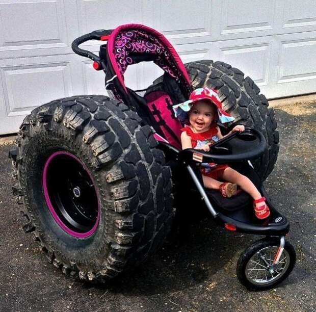 3. Альтернативный, трехколёсный вариант. детские коляски, креатив, родители