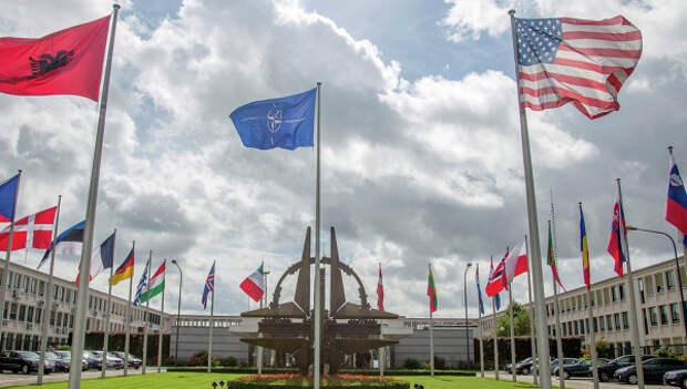 Здание штаб-квартиры НАТО в Брюсселе.Архивное фото