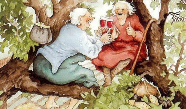Озорные старушки: серия открыток с неунывающими подругами