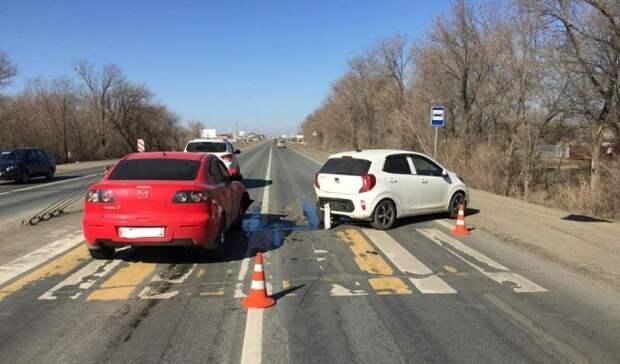 Автоледи на KIA пострадала в ДТП под Оренбургом