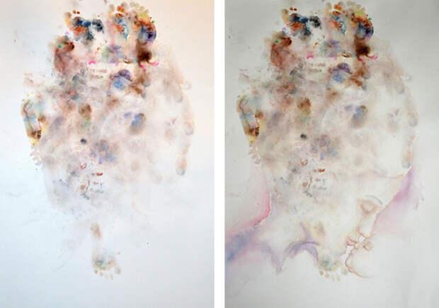 Креативная мама дополняет каракули трехлетней дочери