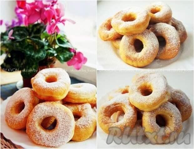 Рецепт дрожжевых пончиков.