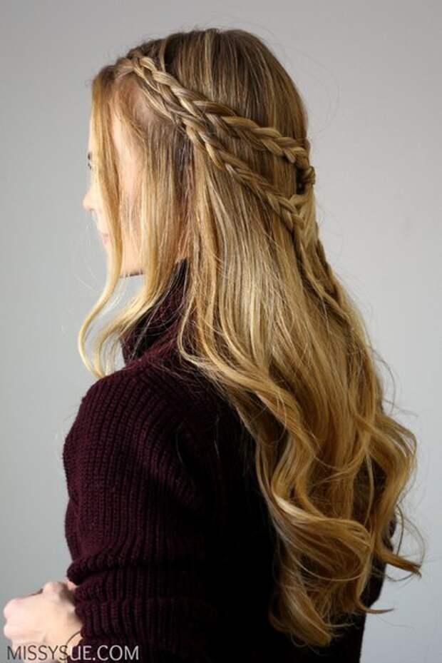 Сложная прическа с косами (Diy)