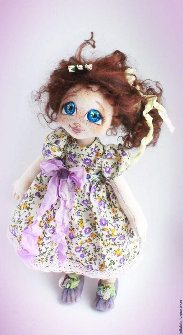 Создаем (от выкройки до наряда) маленькую куклу - тыквоголовку из трикотажа по МК Юлии Титовой