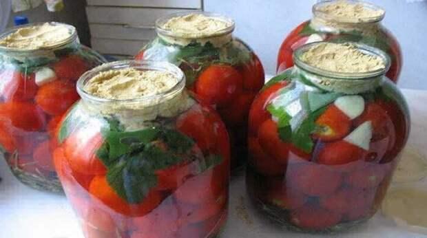 Квашеные помидоры с горчицей по вкусу как бочковые